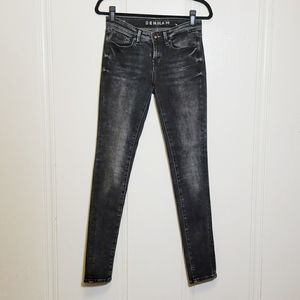 Denham Jeans Washed Black Sharp Skinny